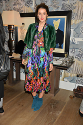 ROSANNA FALCONER at the Mila Furs Trunk Show held at the Haymarket Hotel, 1 Suffolk Place, London on 1st November 2016.
