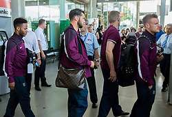 Raheem Sterling and other players during arrival of  England National Football team 1 day before EURO 2016 Qualifications match against Slovenia, on June 13, 2015 in Airport Joze Pucnik, Brnik - Ljubljana, Slovenia. Photo by Vid Ponikvar / Sportida