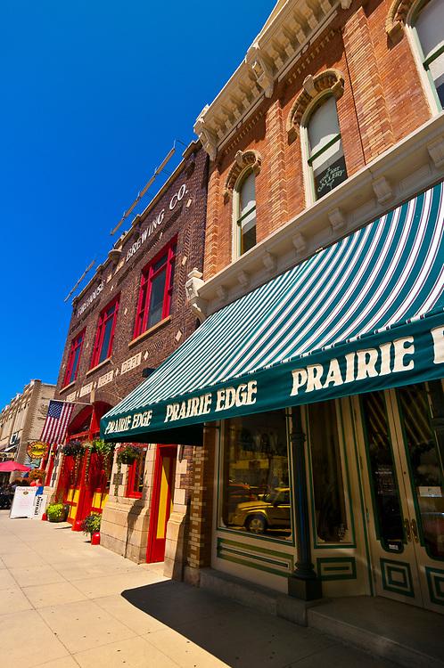 Firehouse Brewing Company and the Prairie Edge Trading Company, Main Street, Downtown Rapid City, South Dakota USA