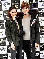 Eyal Booker and  Delilah Bell at the Hard Rock Cafe celebrity-studded Christmas party for children's charity Fight For Life LONDON, 2 December 2019