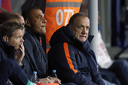 (L-R) doctor Edwin Goedhart of Holland, goalkeeper trainer Frans Hoek of Holland, assistant trainer Fred Grim of Holland, assistant trainer Ruud Gullit of Holland, coach Dick Advocaat of Holland during the FIFA World Cup 2018 qualifying match between Belarus and Netherlands on October 07, 2017 at Borisov Arena in Borisov,  Belarus