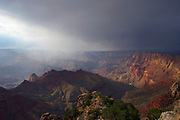 Shaft of sunlight after a storm in the Grand Canyon National Park, Arizona