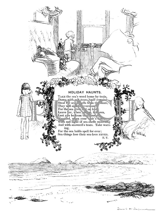 Holiday Haunts (illustrated poem).