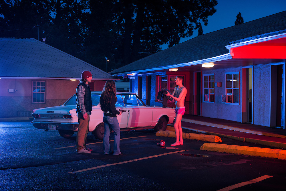 American Dreamscapes  / The Hold Up <br /> <br /> Motel, Bend, Oregon, USA 2015
