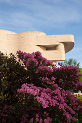 Washington DC: American Indian Museum with azaleas.  Photo copyright Lee Foster.  Photo # washdc102653