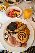 Breakfast in Keswick Country House Hotel, Lake District National Park, Cumbria county, England, United Kingdom, Europe. England Coast to Coast hike with Wilderness Travel, day 4 of 14. [This image, commissioned by Wilderness Travel, is not available to any other agency providing group travel in the UK, but may otherwise be licensable from Tom Dempsey – please inquire at PhotoSeek.com.]