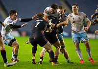 Rugby Union - 2020 / 2021 Guinness Pro-14 - Edinburgh vs Glasgow Warriors - Murrayfield<br /> <br /> Mike Willemse of Edinburgh Rugby is tackled by Ali Price of Glasgow Warriors<br /> <br /> COLORSPORT/BRUCE WHITE