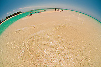 A sandbar in the ocean off Serenity Bay, Castaway Cay (Disney's private island), The Bahamas