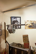 A 12 bore Manville gun on display the the Museum of the American Gangster. The shotgun had a rotating cylinder which held 24 shells.