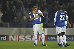 December 6, 2017 - Porto, Porto, Portugal - Porto's Brazilian forward Soares celebrates after scoring goalc during the UEFA Champions League Group G match between FC Porto and AS Monaco FC at Dragao Stadium on December 6, 2017 in Porto, Portugal. (Credit Image: © Dpi/NurPhoto via ZUMA Press)