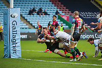 Rugby Union - 2020 / 2021 Gallagher Premiership - Round 4 - Harlequins vs Bristol Bears  - The Stoop<br /> <br /> Alex Dombrandt, of Harlequins, is held up just short of the try line <br /> <br /> COLORSPORT/DANIEL BEARHAM