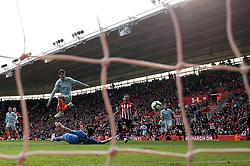Chelsea's Alvaro Morata scores his side's third goal of the game