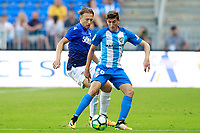Malaga CF's Alex Mula (r) and SS Lazio's Pezzini Leiva during XXXIII Costa del Sol Trophy. August 5,2017. (ALTERPHOTOS/Acero)