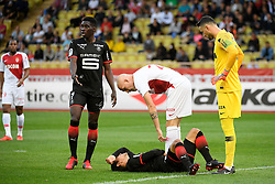 October 7, 2018 - Monaco, France - 07 ISMAILA SARR (REN) - 24 ANDREA RAGGI (MONA) - 21 BENJAMIN ANDRE (REN) - BLESSURE - FAIR PLAY (Credit Image: © Panoramic via ZUMA Press)