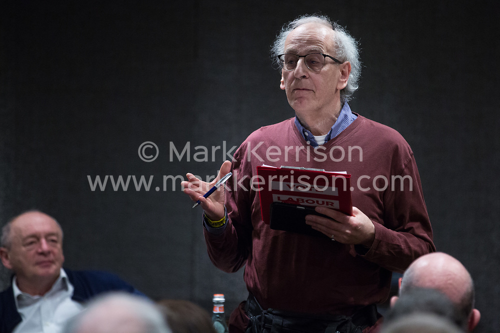 London, UK. 2nd March, 2019. Roland Rance from Jewish Voice for Labour addresses a workshop titled 'Anti-Semitism: Re-emergence and How It's Being Fought' at the ¡No Pasaran! Confronting the Rise of the Far-Right conference at the Radisson Bloomsbury Street Hotel.