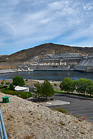 Grand Coulee Dam Panorama. Two of seven images taken with a Nikon D300 camera and 18-200 mm VR lens (ISO 200, 18 mm, f/11, 1/500 sec). Raw images processed with Capture One Pro, Photoshop and CC, NIK Color Efex. Panorama created using AutoPano Pro.