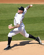 CHICAGO - MAY 23:  Mat Latos #38 of the Chicago White Sox pitches against the Cleveland Indians during game one of a double header on May 23, 2016 at U.S. Cellular Field in Chicago, Illinois.  The White Sox defeated the Indians 7-6.  (Photo by Ron Vesely)   Subject:   Mat Latos