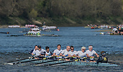 Mortlake/Chiswick, GREATER LONDON. United Kingdom. Reading Rowing Club, MasE.8+, competing at the 2017 Vesta Veterans Head of the River Race, The Championship Course, Putney to Mortlake on the River Thames.<br /> <br /> <br /> Sunday  26/03/2017<br /> <br /> [Mandatory Credit; Peter SPURRIER/Intersport Images]