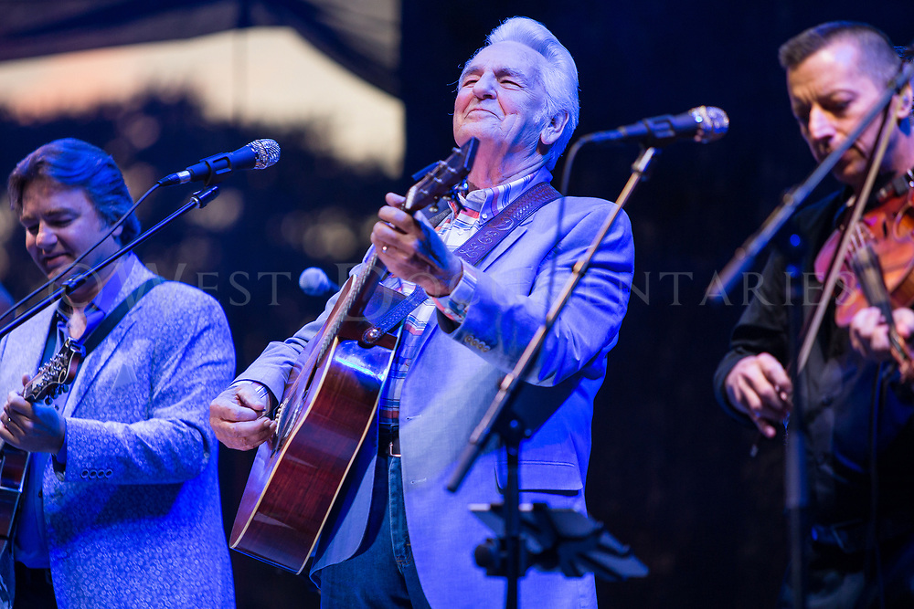 The Traveling McCoury's, with Del McCoury sitting in with the band, Wide Open Bluegrass music festival, Red Hat Amphitheater, Sept. 30, 2017. (Photos by - JOHN WEST)