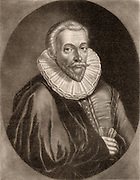 Jan Gruter (Gruytere, Gruterus) (1560-1627). Belgian-born classical scholar. Held various professorships  including at Wittenberg and Heidelberg universities. Mezzotint