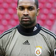 Galatasaray's goalkeeper Robinson ZAPATA during their Turkish superleague soccer derby match Galatasaray between Trabzonspor at the TT Arena in Istanbul Turkey on Sunday, 10 April 2011. Photo by TURKPIX