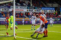 1. divisjon fotball 2018: Aalesund - Mjøndalen. Aalesunds Torbjørn Agdestein (t.h.) med en stor sjanse i førstedivisjonskampen i fotball mellom Aalesund og Mjøndalen på Color Line Stadion.