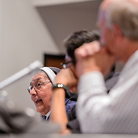 011414       Cable Hoover<br /> <br /> Mother Magda of Casa Reina talks to the audience about immigration issues during the 1st Annual Workforce Development Summit at UNM-Gallup Tuesday.