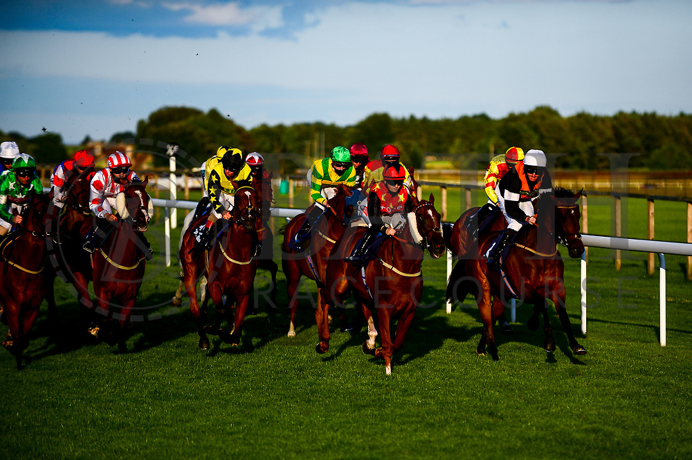 Esspeegee ridden by William Carver and trained by Joseph Parr, New Millennium ridden by Tom Marquand and trained by Philip Hobbs, Agent Gibbs ridden by Hollie Doyle and trained by John O'Shea, Rosie Royale ridden by Rossa Ryan and trained by Roger Teal, Para Queen ridden by Ellie MacKenzie trained by Heather Main, Capricorn Prince ridden by Hector Crouch trained by Gary Moore, Roy Rocket ridden by Nicola Currie trained by John Berry, Homing Star ridden by Liam Keniry trained by Graeme McPherson, Kaisan ridden by Luke Morris trained by Bernard Llewellyn, Blue Beirut ridden by Martin Dwyer trained by William Muir, Essgee Nics ridden by David Probert trained by Robyn Brisland, Binmar's Sexy Lexy ridden by Jimmy Quinn trained by Stuart Kittow, Miss Pollyanna ridden by Charlie Bennett trained by Roger Ingram and Sellingallthetime ridden by Isobel Francis trained by Mark Usher - Mandatory by-line: Dougie Allward/JMP - 10/07/2020 - HORSE RACING - Bath Racecourse - Bath, England - Bath Races