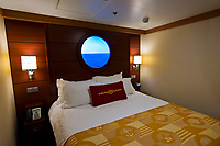 A virtual porthole in a state room, Disney Dream cruise ship, Disney Cruise Line, sailing between Florida and the Bahamas