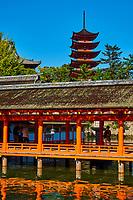 Japon, Ile de Honshu, Ile de Miyajima, sanctuaire shinto d'Itsukushima classé Patrimoine Mondial de l'UNESCO // Japan, Honshu island, Miyajima island, Itsukushima Shrine, UNESCO World Heritage Site