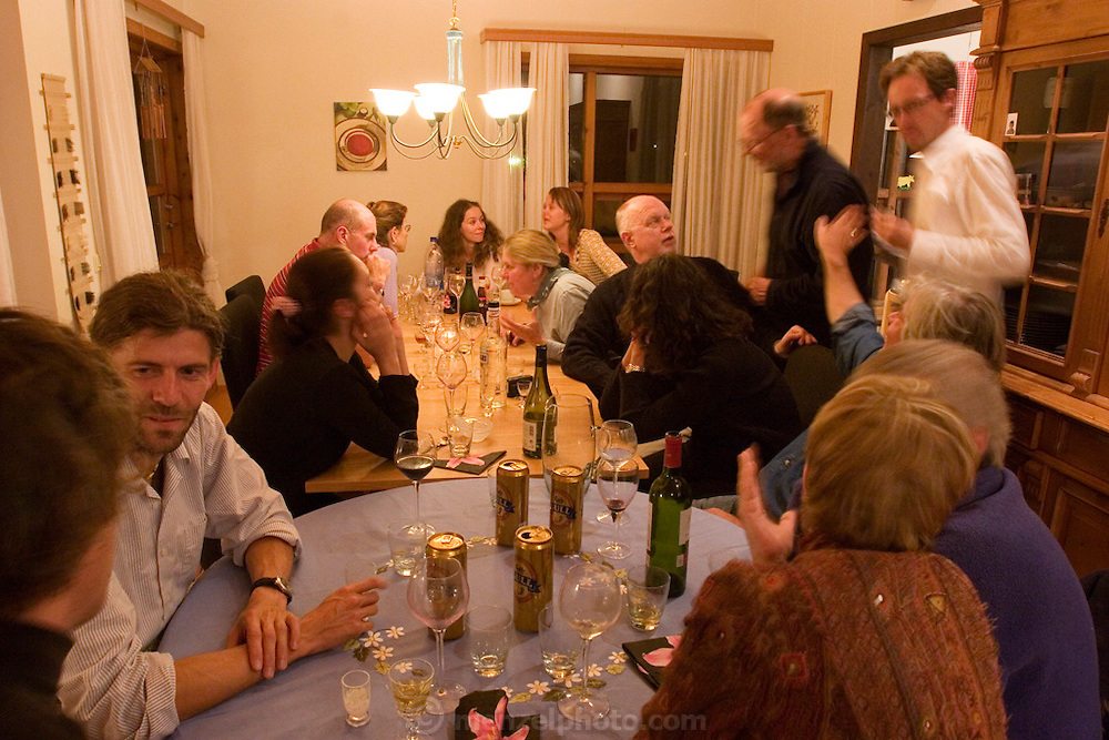 Dinner party at Thordis' house in Reykjavik, Iceland with Rudy Maxa and lots of other writers and editors for a travel conference.