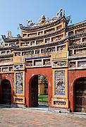 Gateway to Hien Lam pavilion, Hue Citadel / Imperial City, Hue, Vietnam