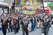 Vietnam veterans motorcycle club march during Brisbane ANZAC day 2005 parade <br /> <br /> Editions:- Open Edition Print / Stock Image