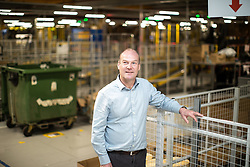 "© Licensed to London News Pictures . 04/12/2019. Manchester , UK .  General Manager of MAN1 warehouse NEIL TRAVIS . Inside the ""MAN1"" Amazon fulfilment centre warehouse at Manchester Airport in the North West of England . Photo credit : Joel Goodman/LNP"