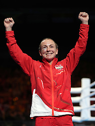 England's Lisa Whiteside celebrates winning gold in the Women's Flyweight Final at Oxenford Studios during day ten of the 2018 Commonwealth Games in the Gold Coast, Australia.