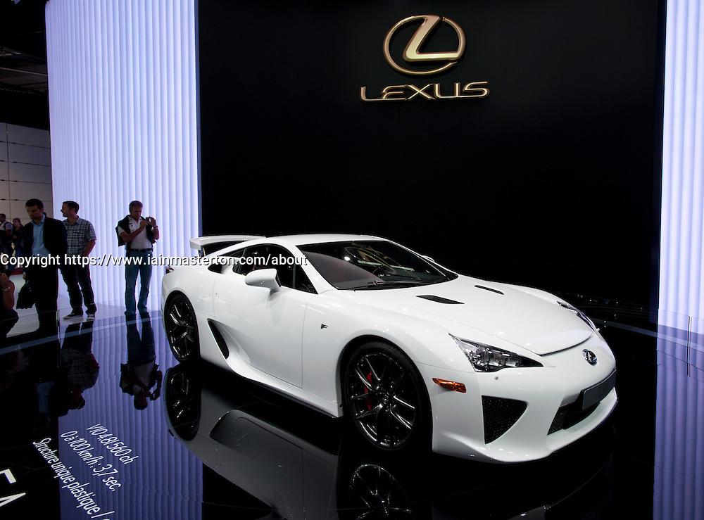 Lexus LFA sports car at Paris Motor Show 2010