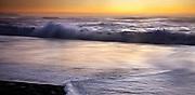 Dusk on West Coast surf beach, near Haast, South Westland, New Zealand