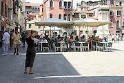 Italy, Venice outdoor cafe