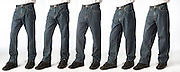 Wost Wanted Jeans different cuts or fits from slimmest to loosest.