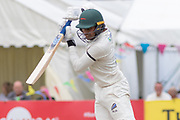 Hassan Azad batting during the Specsavers County Champ Div 2 match between Gloucestershire County Cricket Club and Leicestershire County Cricket Club at the Cheltenham College Ground, Cheltenham, United Kingdom on 17 July 2019.