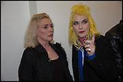 DEBBIE HARRY; PAM HOGG, Chris Stein / Negative: Me, Blondie, and The Advent of Chris Stein / Negative: Me, Blondie, and The Advent of Punk - private view, Somerset House, the Strand. London. 5 November 2014.