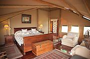 Accomodation at Abu Camp, a luxury camp in the Okavango Delta in Botswana