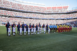 July 26, 2017 - Santa Clara, CA, USA - Santa Clara, CA - Wednesday July 26, 2017: USMNT and Jamaica starting eleven's during the 2017 Gold Cup Final Championship match between the men's national teams of the United States (USA) and Jamaica (JAM) at Levi's Stadium. (Credit Image: © John Dorton/ISIPhotos via ZUMA Wire)