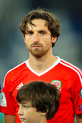 Wales' Joe Allen during the 2018 FIFA World Cup Qualifying, Group D match at the Boris Paichadze Dinamo Arena, Tbilisi. PRESS ASSOCIATION Photo. Picture date: Friday October 6, 2017. See PA story SOCCER Georgia. Photo credit should read: Tim Goode/PA Wire. RESTRICTIONS: Editorial use only, No commercial use without prior permission.