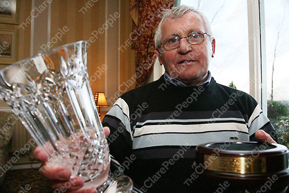Newmarketonfergus man Jimmy Cullinan who went into the 2006 Hall of Fame for over 25 years contribution to Gaelic Games.<br /><br /><br /><br />Photograph by Yvonne Vaughan.