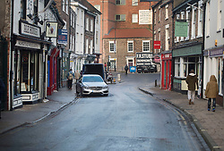 © Licensed to London News Pictures. 29/12/2015. York, UK.  Floodwater has receded from Walmgate in the centre of York on December 29, 2015. Further rainfall is expected over coming days as Storm Frank approaches the east coast of the country. Photo credit: Ben Cawthra/LNP