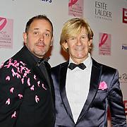 NLD/Amsterdam/20100929 - Pink Ribbon Gala 2010,  Addy van den Krommenacker en partner Bas Meulenbroek