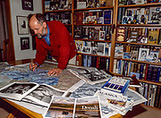 New Zealand mountain guide Gottlieb Braun-Elwert uses maps and reference books to plan ski traverse of Denali, North America's highest peak, 2002 Christchurch