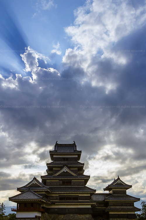 Matsumoto Castle, Matsumoto, Nagano. Japan. Sunday August 13th 2017 Matsumoto Castle, known as the Crow Castle due to its black exterior walls, is one of the oldest castles in Japan.