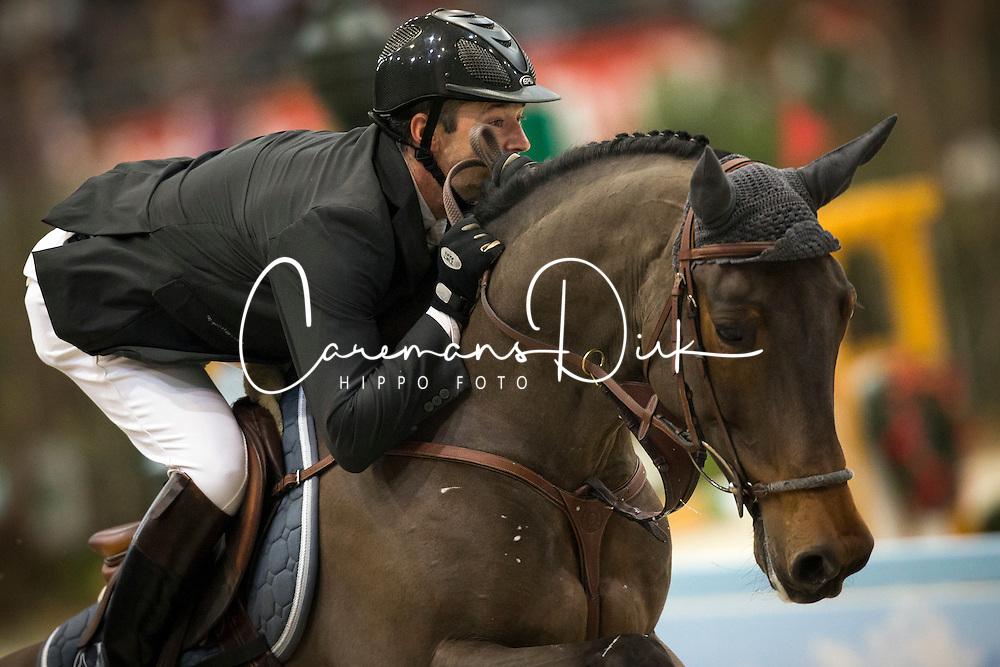 Delaveau Patrice (FRA) - Lacrimoso 3 HDC <br /> Défi des Champion presented by Rolex<br /> CHI Geneve 2013<br /> © Dirk Caremans
